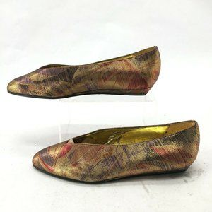 Nickels Satin Pointed Toe Slip On Casual Ballet Fl